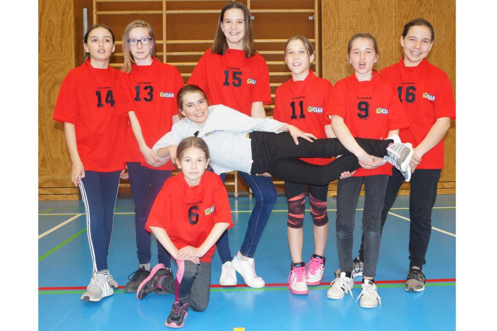 Minihandball 2017/18 3. Platz - Mädels der 2a und 1abc