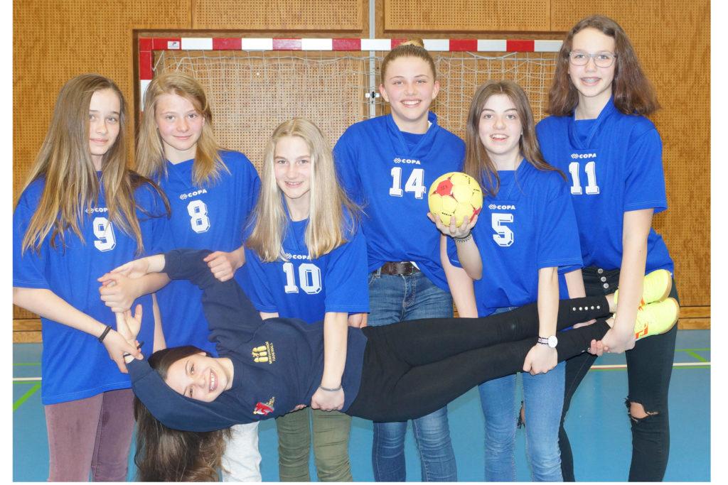Minihandball 2017/18 4. Platz - Mädels der 2bcd
