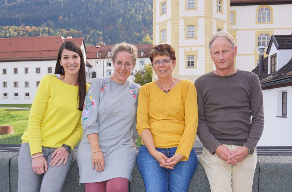 Team für Soziales Lernen: (v.l.) Mag. Julia Dablander, Mag. Sandra Zangerle, Mag. Notburga Fuchs, Mag. Helmut Rödlach