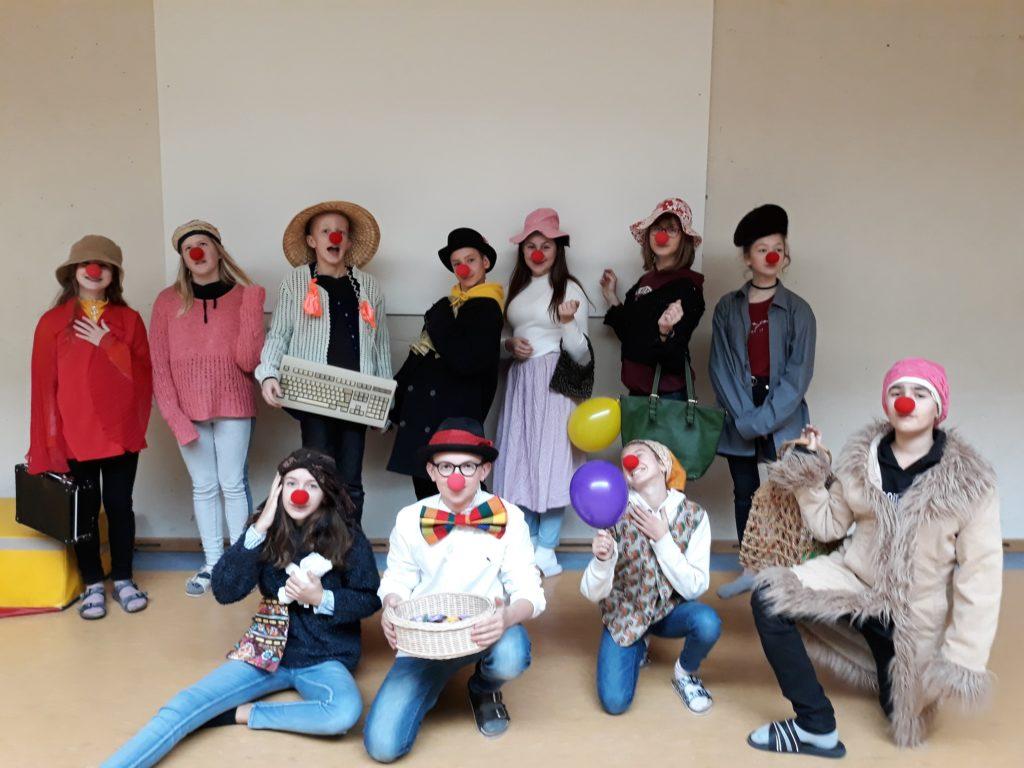 Clowngruppe am Tag der offenen Tür 2019
